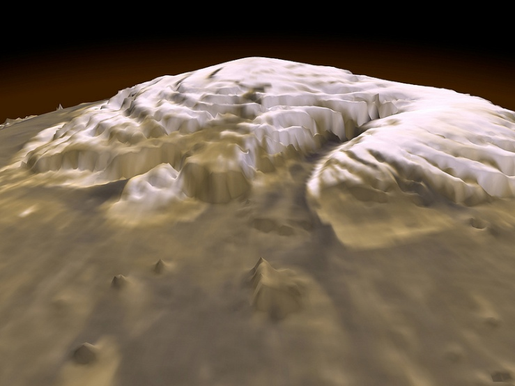 3-D View of Mars NASA on the Commons